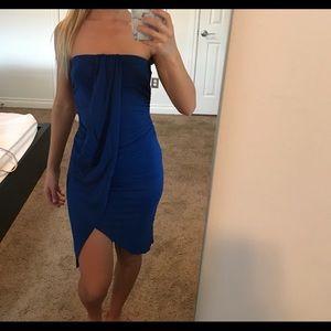 Royal blue bodycon dress
